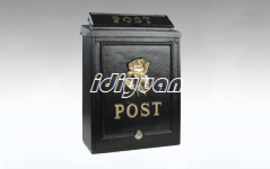 gGold rose post box