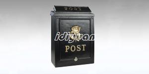 gGold rose post box