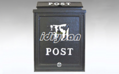 Cow Design Cast Aluminium Post Box