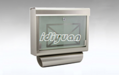 DNB051-stainless steel mailbox with glass front
