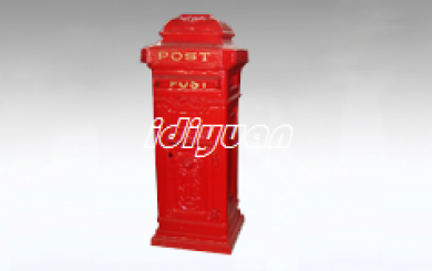 Cast iron large free standing Ornate Post box
