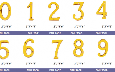 Solid Brass House Numbers