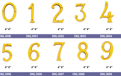 Solid Cast Brass numbers