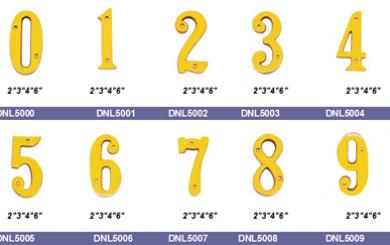 Satin chrome door numbers
