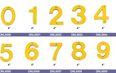Solid brass Floating House Numbers