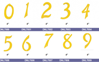 cast brass numbers