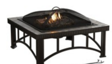 Square Natural Slate Top Fire Pit,